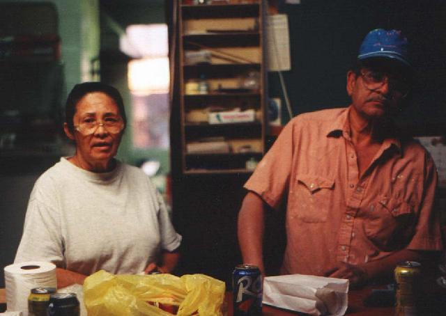 Pete and Queta in the Hueco Tanks Country Store, 1999